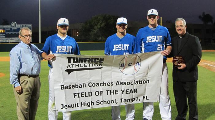 """National Field of the Year"" by the Baseball Coaches Association."